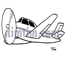 free drawing of an airplane bw from the category trains planes