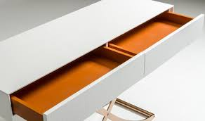 Orange Console Table A U0026x Aversa Modern Console Table U0026 Mirror In White Free Shipping