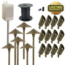 hton bay low voltage bronze outdoor integrated led light kit outdoor lighting tips lighting and chandeliers