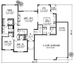 traditional style house plan 3 beds 2 5 baths 1934 sq ft plan