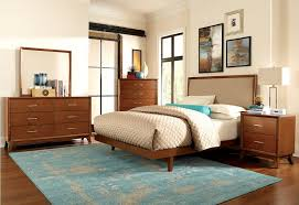 Midcentury Modern Colors - mid century modern bedroom ideas wall mounted black square wooden