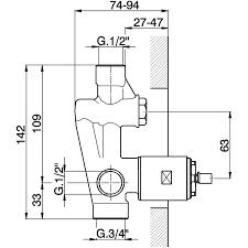 huber zb005210 concealed single lever bath shower valve