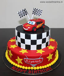 lightning mcqueen cakes disney pixar cars lightning mcqueen theme 2 layer cake with edible