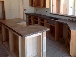 Concrete Kitchen Countertops Tone Kitchen Travertine Concrete Counter Tops