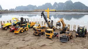 cars trucks for kids 1 excavator dump truck crane working on