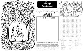 Free Nativity Coloring Page Coloring Activity Placemat Fab N Free Free Printable Nativity Coloring Pages