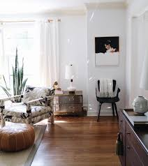 modern organic living room with mid century modern flair love the