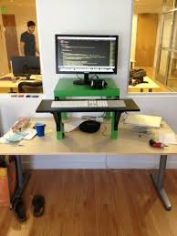 Diy Stand Up Desk Ikea The Height Adjustable Diy Standing Desk Ikea Conversion Kit