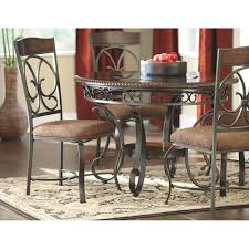 Ashley Dining Room Sets Glambrey Round Dining Room Table D329 15 Signature Design By Ashley