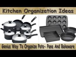 how to organize pots and pans in a cupboard kitchen organization ideas organization pots and pans genius way to organize pots pans bakeware