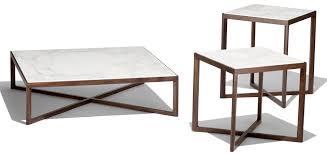 rectangular marble coffee table contemporary coffee table marble mdf wood veneer knoll