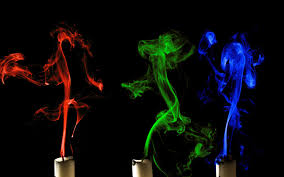 colorful candle smoke wallpaper wallpaper wide hd