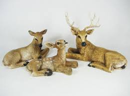 Home Interior Deer Picture by Homco 1984 Home Interiors Set Of 3 Deer Family Buck Doe Fawn