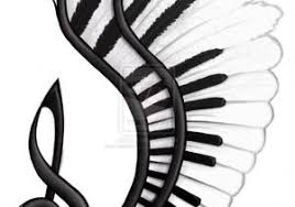 notes with wings tattoos big note with wings