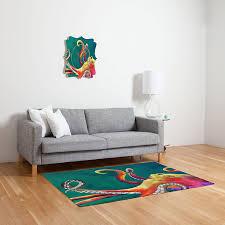 amazon com deny designs clara nilles mardi gras octopus woven rug
