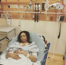 sick bed nollywood actress georgina onuoha shares photo from sick bed