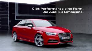 audi ads audi s3 sedan tv commercial youtube