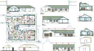 single storey house plans autocad file single storey house plan
