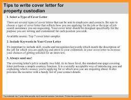 cover letter for custodial position bio letter format