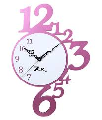 7cr pink wooden wall clock buy 7cr pink wooden wall clock at best