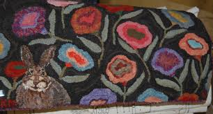 Hooked Rug Patterns Primitive Rug Hooking Shows A Daily Dose Of Fiber