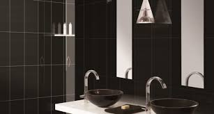 simple black bathroom cabinets and storage units placement