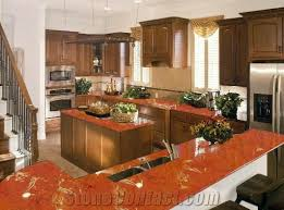 Red Kitchen Countertop - marvelous red marble kitchen countertops dazzling kitchen design