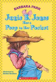 junie b jones has a peep in pocket by barbara park scholastic