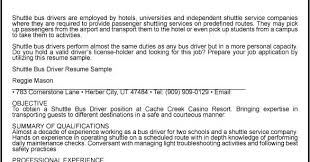 Sample Driver Resume by Great Sample Resume Shuttle Bus Driver Resume Sample