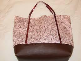patron couture sac cabas cabas paillettes liberty et simili cuir photo de sacs bags