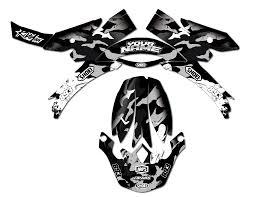 motocross helmet decals helmet kit camo grunge grey rival ink design co custom