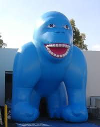 gorilla balloon 25 foot blue click for larger photo