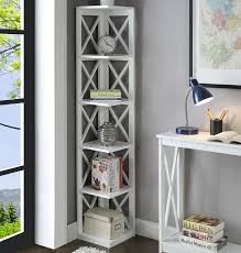 Corner Unit Bookcase Beachcrest Home Stoneford Corner Unit Bookcase Reviews Wayfair