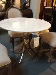 Marble Dining Room Tables Round White Marble Dining Table Foter