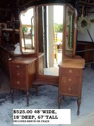 Unfinished Wood Vanity Table Antique Vintage Shabby Chic Unfinished Furniture Mirror