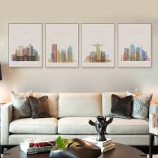 Livingroom Art Online Get Cheap Paris Framed Art Aliexpress Com Alibaba Group