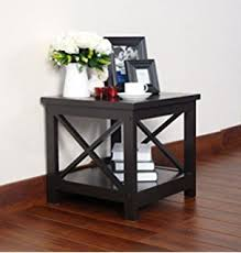 end table with shelves amazon com espresso finish x design wooden cocktail coffee table
