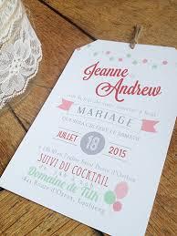 faire part mariage original pas cher faire part pas cher sweet paper