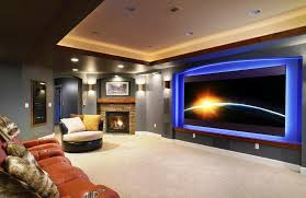 Ideas For Finished Basement Diy Basement Home Theater Ideas