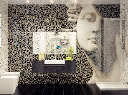 mosaic tile bathroom feature wall interior design ideas
