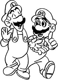 luigi coloring pages coloring pages print