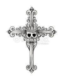 skull cross stock illustration thinkstock