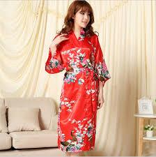robe de chambre en soie femme 2016 summer style s silk rayon robe kimono bath