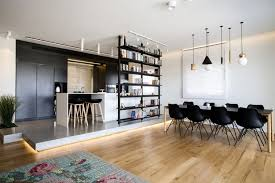 raumteiler küche esszimmer moderne offene küche im wohnzimmer ein penthouse in israel