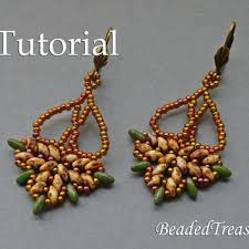 Beaded Chandelier Etsy Best Beaded Bead Superduo Tutorial Products On Wanelo
