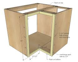 plans for building kitchen cabinets ana white build a 36 corner base easy reach kitchen cabinet