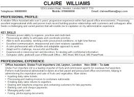 Sample Office Resume by Office Assistant Cv Sample