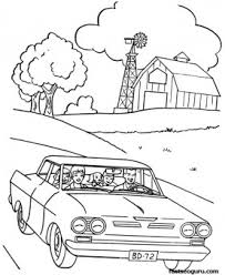 family tour car coloring sheet printable coloring pages