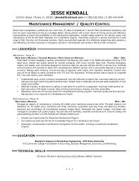 unforgettable maintenance technician resume examples to stand out