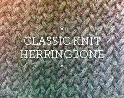 herringbone knit patterns for scarves cowls and blankets